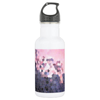 Abstract Stained Glass Winter Sunset Trees Mosaic 532 Ml Water Bottle