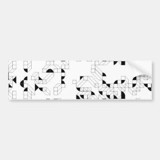 Abstract Stamp Bumper Sticker