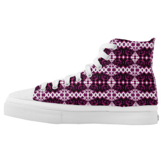 abstract star motifs on shoe. high tops