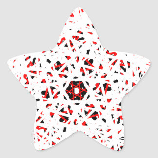 Abstract Star Sticker