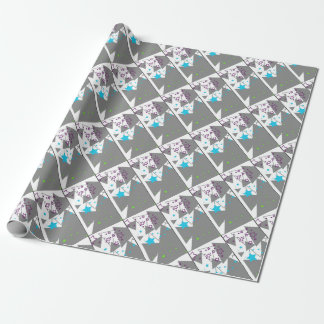 abstract star wrapping paper