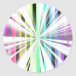 Abstract starburst stickers