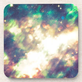 Abstract Starry Background Beverage Coasters