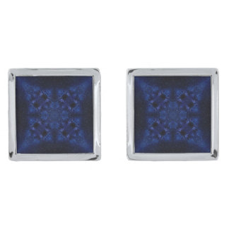 Abstract Starry Sky Silver Finish Cufflinks