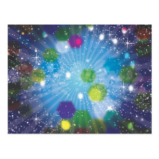Abstract Stars Postcard
