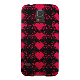 Abstract Steampunk Heart Galaxy S5 Covers