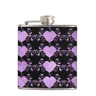 Abstract Steampunk Heart Hip Flask