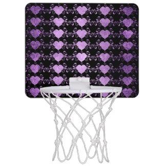 Abstract Steampunk Heart Mini Basketball Hoop