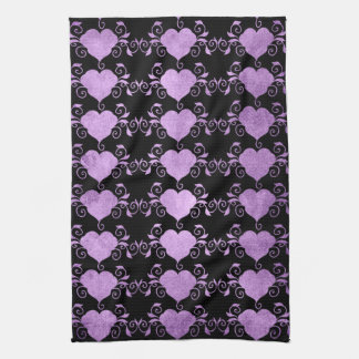 Abstract Steampunk Heart Tea Towel
