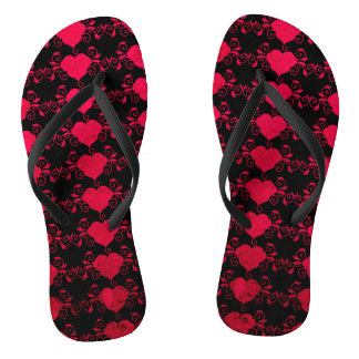 Abstract Steampunk Heart Thongs