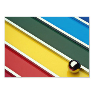 Abstract Steel ball and rods on multicolored acryl 5x7 Paper Invitation Card
