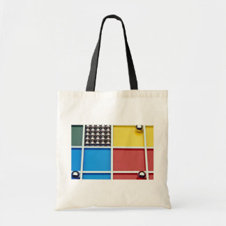 Abstract Steel balls and rods on multicolored acry Canvas Bags