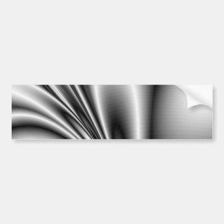 Abstract Steel Waves Metallic Look Bumper Sticker