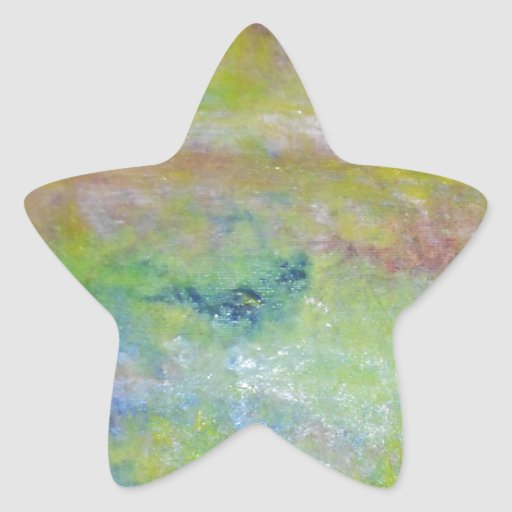abstract star stickers