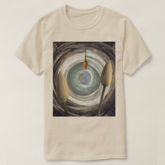 Abstract Still Life Motif shown on Sand Colored T-Shirt
