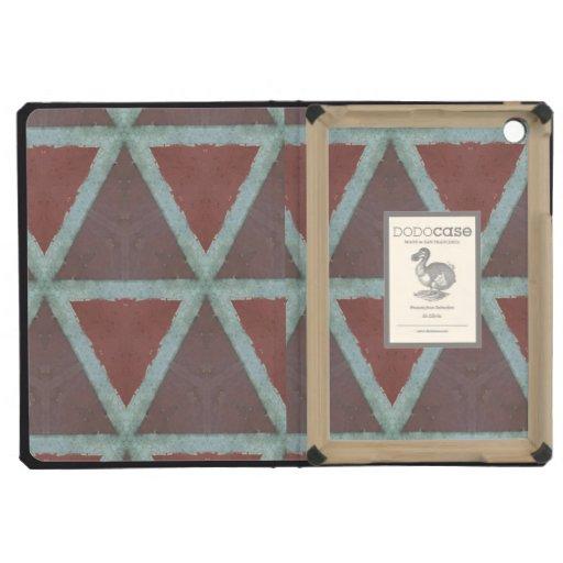 Abstract stone triangle wall iPad mini cover