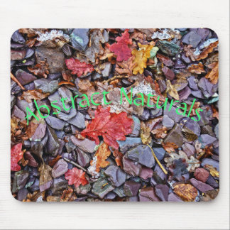 Abstract Stones and Leaves Mouse Pad