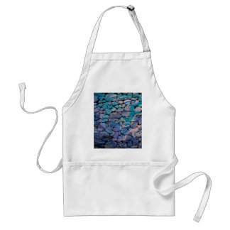abstract stones blue apron