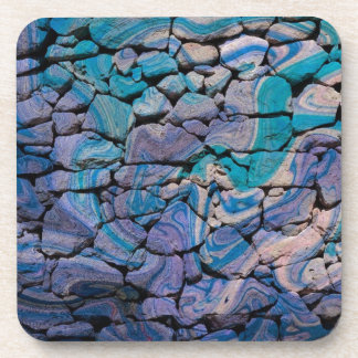 abstract stones blue coaster