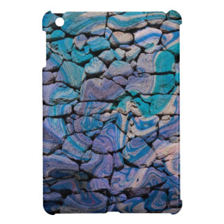 abstract stones blue iPad mini case