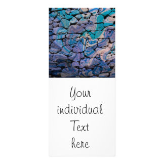 abstract stones blue rack card design