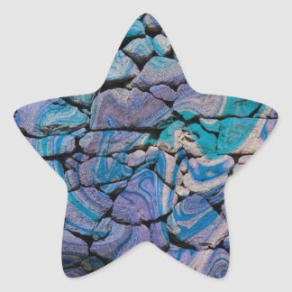 Abstract Stones blue Sticker