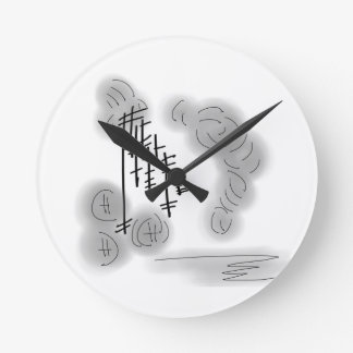 abstract storm round clock