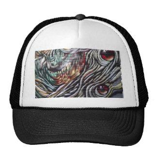 Abstract street art mesh hat