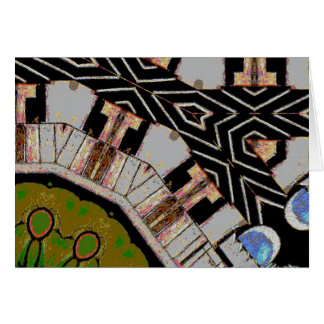 Abstract Streets Intersection Greeting Card