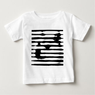 Abstract striped monochrome dogecoin baby T-Shirt