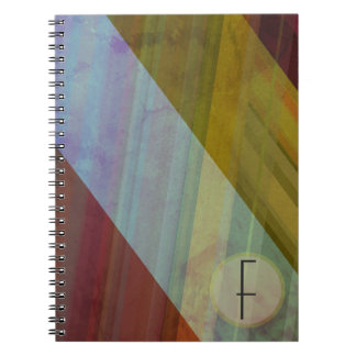 Abstract Stripes/Monogram Notebook