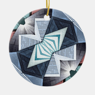 Abstract Structural Collage Ceramic Ornament