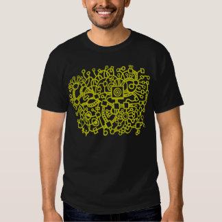 Abstract Structure - Banana on Dark Tee Shirts