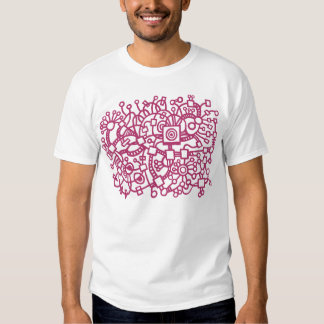 Abstract Structure - Crimson T-shirt