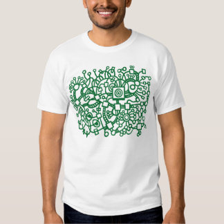 Abstract Structure - Forest Green on Dark Tshirts