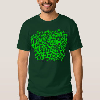 Abstract Structure - Green Tee Shirts