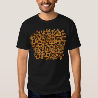 Abstract Structure - Light Orange Tshirt