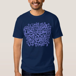Abstract Structure - Pastel Blue on Dark T-shirt