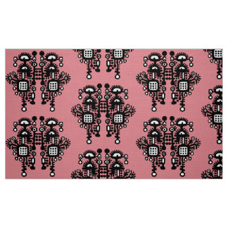 Abstract Structure Pattern - B&W With Pink Fabric