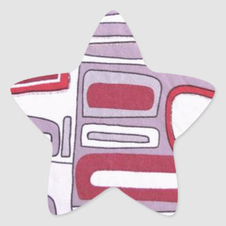 Abstract Style Star Sticker