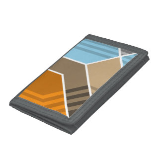 Abstract Subduction Zone Trifold Wallet