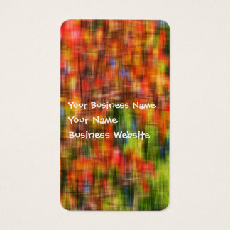 Abstract summer garden colors business card