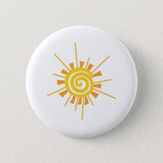 Abstract Sun 6 Cm Round Badge