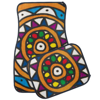 Abstract Sun Car Mat