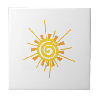 Abstract Sun Ceramic Tile