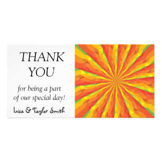 Abstract sun picture card