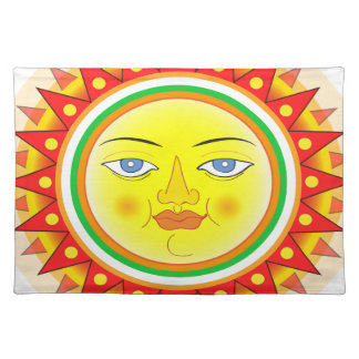 Abstract Sun Placemat