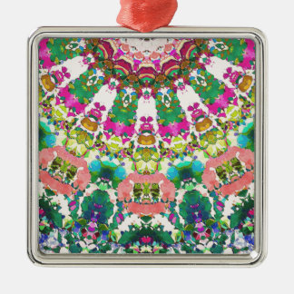 Abstract Sun Rays Mosaic Metal Ornament