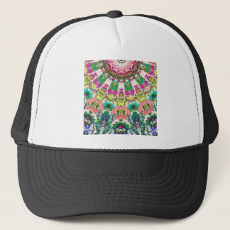 Abstract Sun Rays Mosaic Trucker Hat