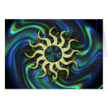 Abstract Sun Winter Solstice Card